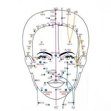 Points reflexologie faciale face